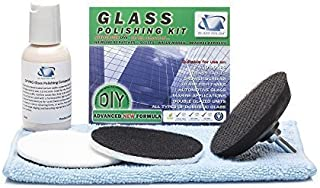 GP21002 Glass Polishing DIY Kit, Removes Hard Water Damage, Surface Marks, Scuffs / For any Type of Glass / Discs Diameter 3 inch