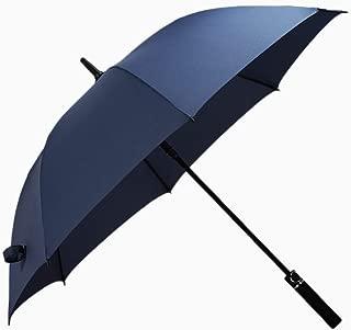 YQRYP Umbrella Long Handle Men's Business to Increase Double Semi-Automatic Straight Umbrella Advertising Umbrella Custom Umbrella Windproof Umbrella, Golf Umbrella (Color : Blue)
