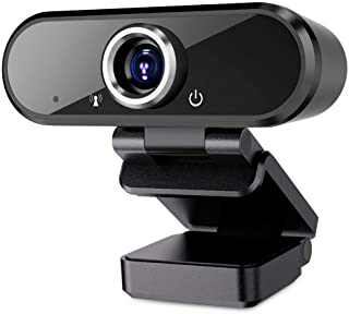 Webcam with Microphone, 1080P Full HD Webcam Streaming Computer Web Camera for Video Calling Conferencing Recording, USB W...