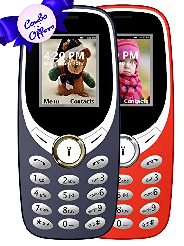 IKALL K31 Basic Feature Mobile Phone Dark Blue and Red 64MB