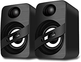 LFS USB-Powered Speakers, PC Speakers,Wired Computer Speaker with Stereo Dynamic Sound for Desktop,PCS,Laptops, Tablets,Ce...