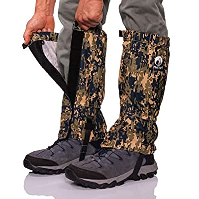 Pike Trail Leg Gaiters – Waterproof and Adjustable Snow Boot Gaiters for Hiking, Walking, Hunting, Mountain Climbing and Snowshoeing (Digital Olive Drab Camo)