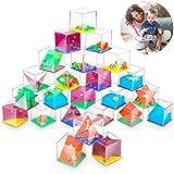 Mini Juegos Rompecabezas 24Pcs,Juegos de Habilidad con Niveles Diferentes,Set de Puzzles Juegos para Regalos,3D Laberintos para Regalos de Fiesta Juegos Cumpleaños para Navidad Niños y Adultos