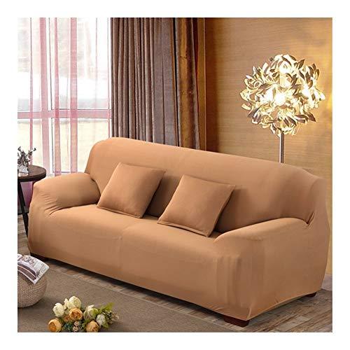 ZIJ Funda elástica para sofá de sala de estar, funda de sofá de 1/2/3/4 plazas, fundas de algodón baratas Copridivano (color 15, tamaño: 2 plazas, 145 185 cm)