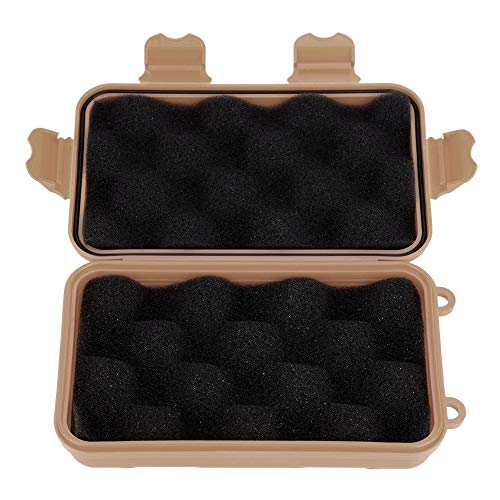 needlid Waterproof Survival Box Pressure-Proof Outdoor Box Equipment Sealed Box for Outdoor(Mud color, small)