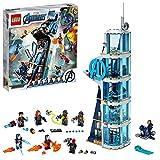 LEGO Super Heroes Battaglia sulla Torre, Set di Costruzioni Ricco di Dettagli per Bambini 8 Anni e per i Fan Marvel Avengers, 76166