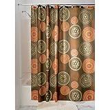 iDesign Bazaar Duschvorhang   auffälliger Badewannenvorhang mit 12 Ösen aus Metall   Designer Duschvorhang in der Größe 183,0 cm x 183,0 cm   Polyester braun