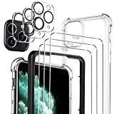Luibor [7 in 1] Cristal Templado iPhone 11 Pro + Funda iPhone 11 Pro + cámara Protector de...
