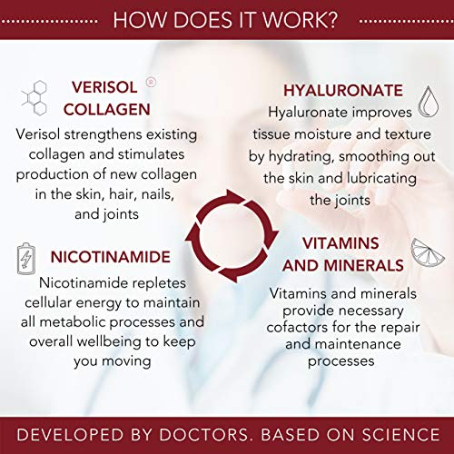 51N9+hZnsjL - HealFast Rejuvenate - Anti Aging Beauty & Skin Supplement - Clinically-Studied Ingredients w/Nicotinamide & Verisol Collagen Peptides - Physician Formulated - for Energy, Skin, Hair, Nails - 90 Pills
