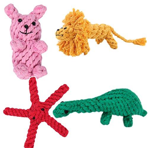 scrox Hunde Welpen Katze Tiere Spielzeug kauen Zähne Reinigung Baumwolle Seil Spielzeug Beißen robust geflochten gewebt Mignon Produkte für Tiere