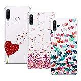 Young & Ming Funda para Huawei P30 Lite, (3 Pack) Transparente Ultrafina Carcasa Delgado antigolpes Resistente, Amor