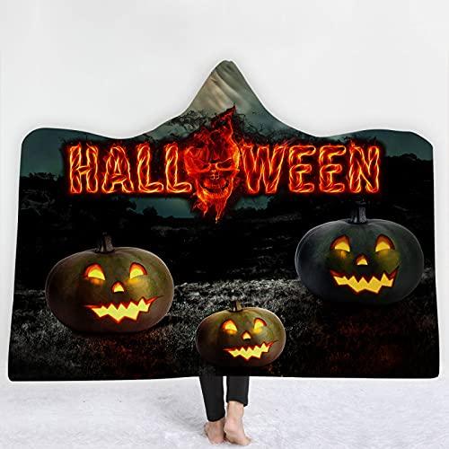 KLily Manta con Capucha De Halloween, Manta Más Gruesa para Niños En El Hogar, Manta De Aire Acondicionado para La Siesta del Dormitorio, Lavable A Máquina para Todas Las Estaciones