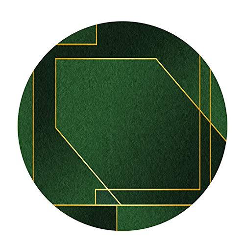 XIEBA Bodenmatte Für Stuhl, Bodenschutzmatten Für Rollstuhl, Computerstuhlmatte Für Spiele, Runder Teppich-Teppich(Size:100cm/39.4in,Color:B.)