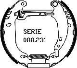 metelligroup 51-0165 Kit Prèmontès, Made in Italy, Kit Composé de 2 Mâchoires de Frein Prémonatées, Pièce de Rechange pour Voiture, Montage Facile, Rapide et Sûr
