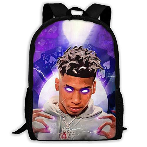 Nle Choppa Youth Backpack Nle Choppa School Bookbag Unisex College Student Travel Laptop Backpack