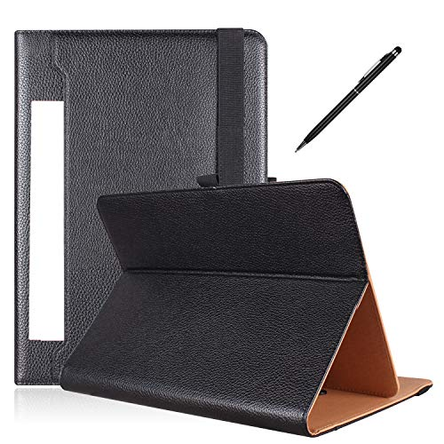 PHARRI Tablet Case 10 inch, Universal Tablet Case for 9 to 10.9 inch Tablet , Stand Folio Case Cover with Multiple Viewing Angles, and Free Bonus Stylus Pen - Black