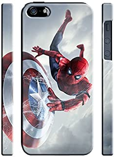 Captain America: Civil War & Characters for Iphone 5 5s SE Hard Case Cover (war32)