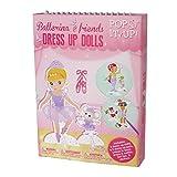 Livre de poupées de papier de style rétro.Coloriez et créez des robes à la mode pour poupées, sirènes et ballerines. Ensemble d'artisanat pour les filles Packs d'activités de voyage pour les enfants.