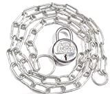 Techxy Heavy Metal Chain Plus one Small Lock with Multi usability for Travel Liggage Safety, Goods Safety, Bike Safety with Size of 4 Feet / 48 Inch