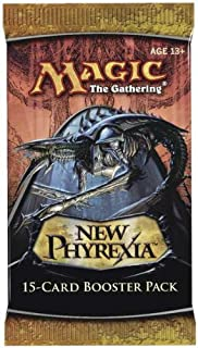 1 (0ne) Pack of Magic the Gathering: MTG New Phyrexia Booster Pack (15 Cards/Pack)