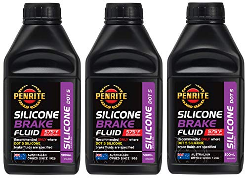 Penrite Öl Silikon Bremsflüssigkeit DOT 5, Trockenkochpunkt 302 Grad, 1,5 Liter