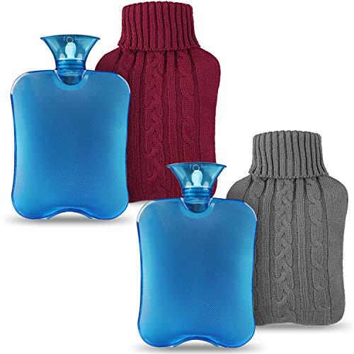 Magicfun Bolsa de Agua Caliente 2 Pack, Botella De Agua De G