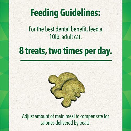 FELINE GREENIES Natural Dental Care Cat Treats Oven Roasted Chicken Flavor, 21 oz. Tub