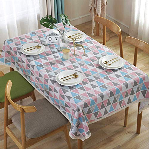 XIAOE Rectangular Tablecloth Wipe Clean Table Cover Rectangle Table Cloth Wipeable Washable Home Decoration Tablecloth Dust Proof Table Cover Kitchen Dinning 120 * 160cm