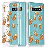 JOYLAND Clear Phone Case Cover for Samsung Galaxy S8 Cute Lovely Sloth Cartoon Phone Case Cover Transparent Bumper Protective Shell Compatible for Samsung Galaxy S8