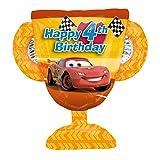 Disney Cars Happy 4th Birthday 26' mylar foil Balloon Trophy Party Supplies Boy