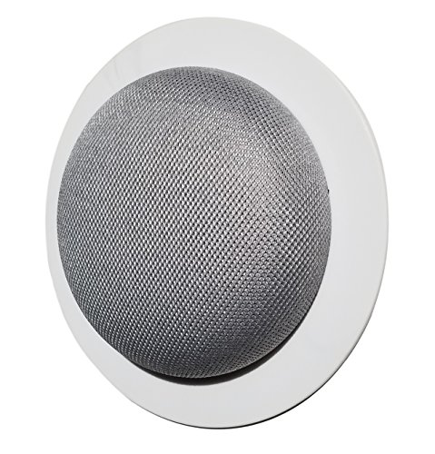 Mount Genie Simple Built-in Wall or Ceiling Mount for Google Home Mini (1st Gen) | Award Winning Design | Improves Sound and Appearance | Designed in USA (5-Pack)
