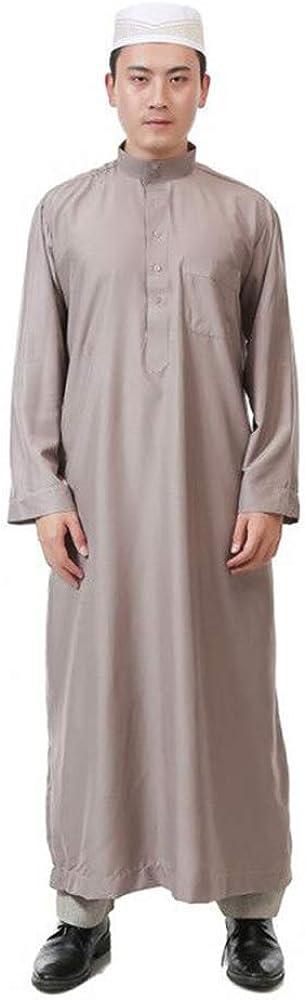 Positive Costume Men Muslim Robes Dubai Kaftan Islamic Clothing Arabic Prayer Eid Clothes Indian Middle East Jubba Thobe