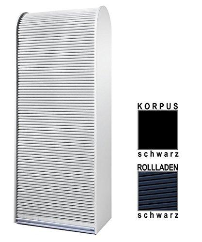 Klenk Dancer Collection - Aktenschrank - Korpus: schwarz/Rollladen: schwarz