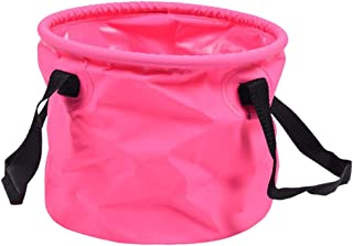 Prettyia Lightweight Portable Folding Wash Basin Bucket, Collapsible Bucket Trips Foot Bath Folding Water Bag for Outdoor Travel