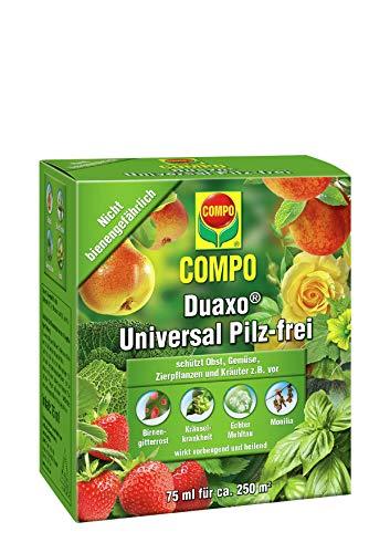 COMPO Duaxo Universal Pilz-frei, Bekämpfung von Pilzkrankheiten an Obst, Gemüse, Zierpflanzen und Kräutern, Konzentrat inkl. Messbecher, 75 ml