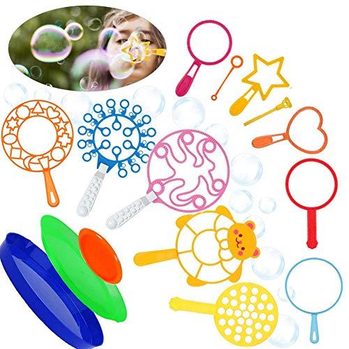 15 Stück seifenblasen Set,seifenblasenstäbe,Blase zauberstab,seifenblasen Gross Kinder,buntes seifenblasen Spielzeug,seifenblasen für Outdoor aktivitäten