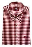 Orbis - Camicia tradizionale in tessuto, a quadretti, colore: rosso/bianco, taglia normale, OS-0071 Colore: rosso 49-50