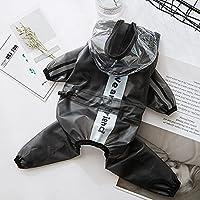 犬の服犬のレインコート防水フード付き透明ペット猫子犬レインコートペットジャケット小中大ペット用衣類ハロウィーンのクリスマスギフト