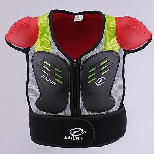 HBRT Kid Body Armor Armor Jacke Kinder Brust Rücken Wirbelsäule Protector Weste für Dirt Bike Motocross Snowboard Skifahren Radfahren Klettern,S