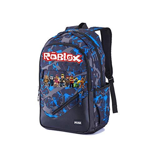 Roblox Schulrucksack Sport Daypack Reisetasche Freizeit Rucksack Schule Rucksack Mode Rucksack gedruckt (Color...