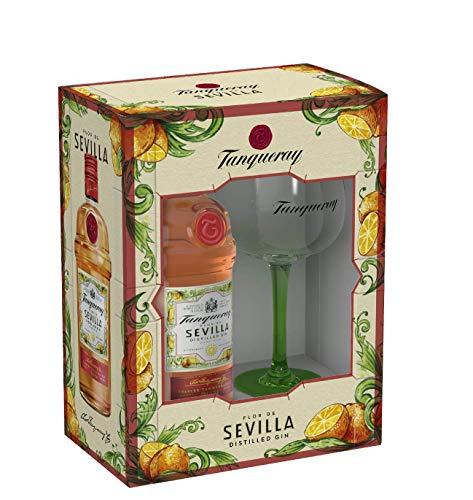 Tanqueray - Flor de Sevilla Ginebra inglesa con sabor a naranjas amargas de Sevilla - Edición limitada con copa de balón de regalo, 70 cl