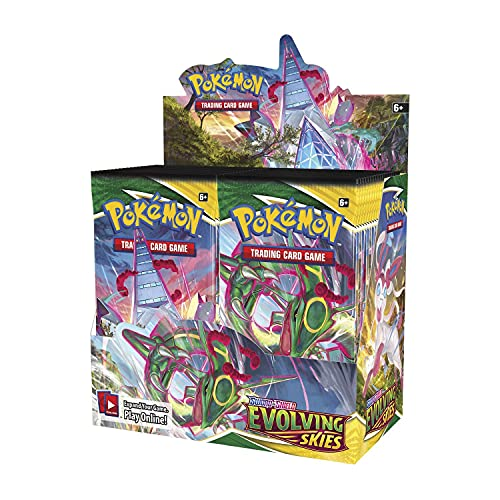 Pokemon Sword and Shield Evolving Skies Booster-Display-Box, 36 Packungen mit 10 Karten