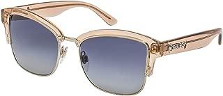 Burberry Half Frame Sunglasses For Women, Blue & Grey - BE4265 33584L54
