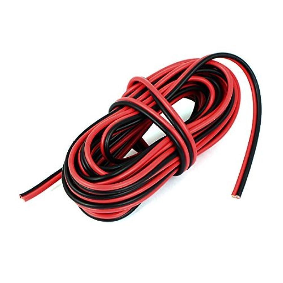 eDealMax AC 250V 6.5A 1.5mm2 Cable eléctrico 2 Cables de alambre 6M 20 pies de Largo Negro Rojo