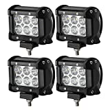 18W CREE LED Work Light Bar, 4Pcs 4' Flood Beam 60 degree Waterproof for Off-road Car ATV SUV Jeep Boat