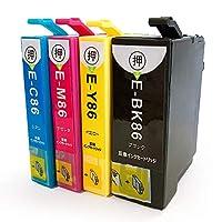 EPSON エプソン IC4CL86 (BK/C/M/Y) 大容量 4色セット かぎマーク 残量表示可能ICチップ付 互換インクカートリッジ 最優良品質【デイリーインクストア製】