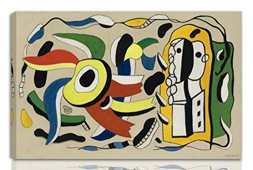 Berkin Arts Fernand Leger Gedehnt Giclee Auf Leinwand drucken-Berühmte Gemälde Kunst Poster-Reproduktion Wand Dekoration Fertig zum Aufhängen(Die Zwei Puppen)#NK