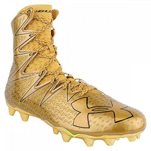 Under Armour Highlight MC LE American Football Schuhe, Gold, US 10