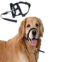 Emours Muselière réglable pour chien en nylon, facile et rapide à ajuster Anti-aboiement