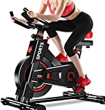 Dripex Upright Exercise Bikes (Indoor Studio Cycles) - Studio Quality with Heart Rate Monitor, Large Bidirectional Flywheel, Belt Drive, Infinite Resistance, LCD Displays, Hand Pulse【2020 Model,9320】